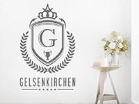 Wandtattoo Wappen mit Ortsname | Bild 3