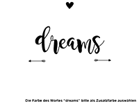 Wandtattoo Your dreams know the way