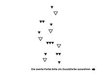 Wandtattoo Dreiecke zweifarbig Motivansicht