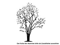 Wandtattoo Blühender Magnolien Baum Motivansicht