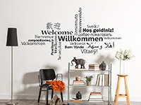 Wandtattoo Willkommen Multikulturell | Bild 2