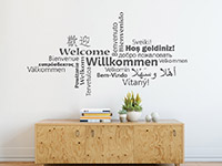Wandtattoo Willkommen Multikulturell | Bild 3