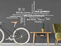 Wandtattoo Willkommen Multikulturell | Bild 4
