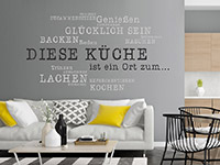 Wandtattoo Diese Küche ist ein Ort | Bild 4