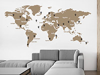 Wandtattoo Weltkarte mit Pins | Bild 3
