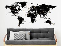 Wandtattoo Weltkarte mit Pins | Bild 4