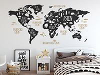 Wandtattoo Weltkarte mit Tieren | Bild 2