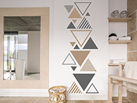 Wandtattoo Zweifarbiges Dreieck Ornament | Bild 2