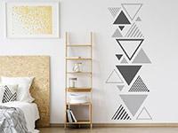 Wandtattoo Zweifarbiges Dreieck Ornament | Bild 3