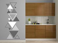 Wandtattoo Zweifarbiges Dreieck Ornament | Bild 4