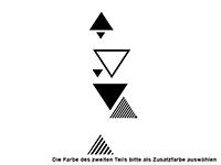 Wandtattoo Moderne Dreiecke Motivansicht