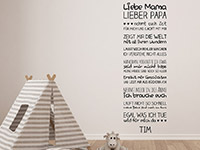 Wandtattoo Liebe Mama Lieber Papa | Bild 4
