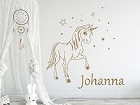 Wandtattoo Zauber Pony mit Wunschname | Bild 2