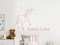 Wandtattoo Zauber Pony mit Wunschname | Bild 3