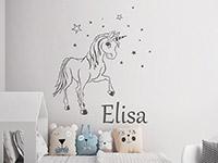 Wandtattoo Zauber Pony mit Wunschname | Bild 4