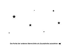 Wandtattoo Sternentraum Motivansicht