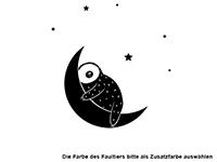 Wandtattoo Faultier Schlaf schön mit Name