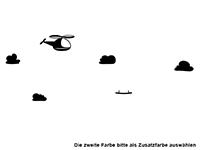 Wandtattoo Set Hubschrauber und Wolken Motivansicht