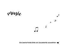 Wandtattoo Music Infinity Motivansicht