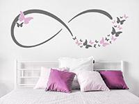 Wandtattoo Infinity Zeichen mit Schmetterlingen | Bild 2