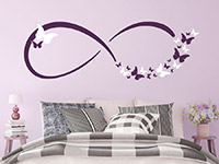 Wandtattoo Infinity Zeichen mit Schmetterlingen | Bild 3