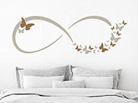 Wandtattoo Infinity Zeichen mit Schmetterlingen | Bild 4