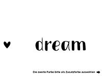 Wandtattoo Don't forget to dream Motivansicht