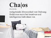 Wandtattoo Chaos Definition