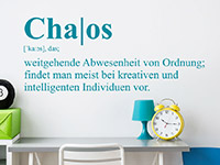 Teenager Wandtattoo Chaos Definition in Farbe