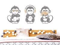 Wandtattoo Coole Affen | Bild 3
