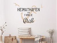 Wandtattoo Heimathafen Familie Wunschname | Bild 3
