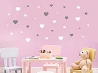 Wandtattoo Herzen im Kinderzimmer
