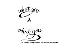 Wandtattoo Do what you love Motivansicht