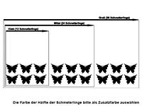 Wandtattoo Schmetterlinge zweifarbig Motivansicht