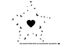 Wandtattoo Schmetterlingsstern mit Herz Motivansicht