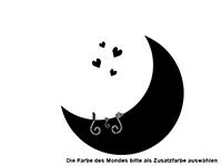 Wandtattoo Katzen im Mond Motivansicht