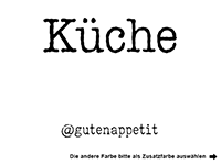Wandtattoo Küche mit Hashtags Motivansicht
