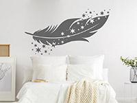 Wandtattoo Feder mit Sternen | Bild 3
