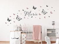 Wandtattoo Schmetterlinge mit Wunschname | Bild 2