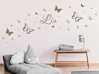 Wandtattoo Schmetterlinge mit Wunschname | Bild 4