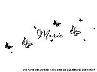 Wandtattoo Schmetterlinge mit Name