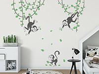 Wandtattoo Süße Affen | Bild 2