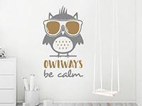 Wandtattoo Owlways be calm im Kinderzimmer