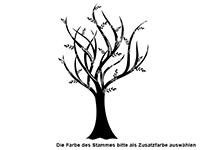 Wandtattoo Romantischer Baum Motivansicht
