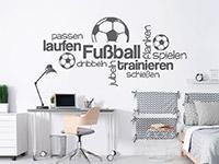 Wandtattoo Wortwolke Fußball spielen | Bild 3