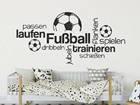 Wandtattoo Wortwolke Fußball spielen | Bild 4