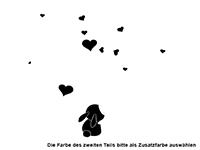 Wandtattoo Verliebte Hasen Motivansicht