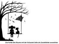 Wandtattoo Baum mit Schaukel Motivansicht