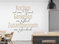 Wandtattoo Kochen ist eine Kunst | Bild 2