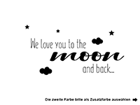 Wandtattoo We love you to the moon and back Motivansicht
